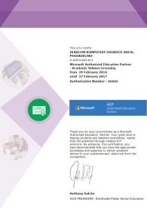 EAP DERACOM Komputery Wyszków - Autoryzowany Partner Microsoft