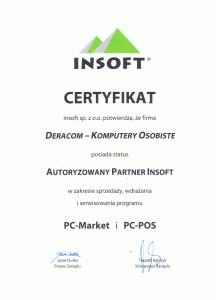 DERACOM Komputery i Kasy Fiskalne Wyszków - Autoryzowany Partner Oprogramowania Insoft PC-Market PC-POS